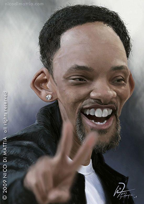 Caricatura de Will Smith.