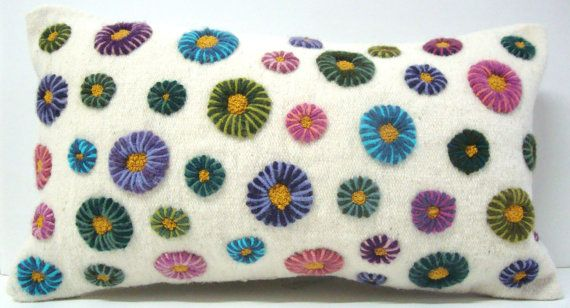 Hand Embroidered Pillow by DubrasenHome