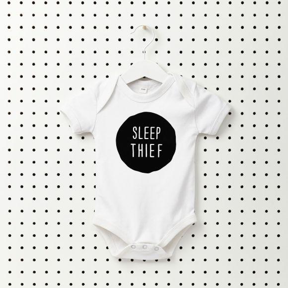 Sleep thief baby onesie