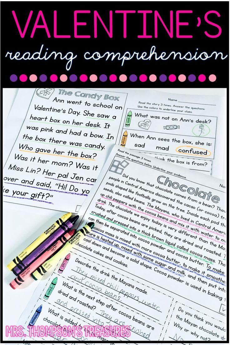 - Valentine's Day Reading Comprehension For K-4 In 2020 Valentine
