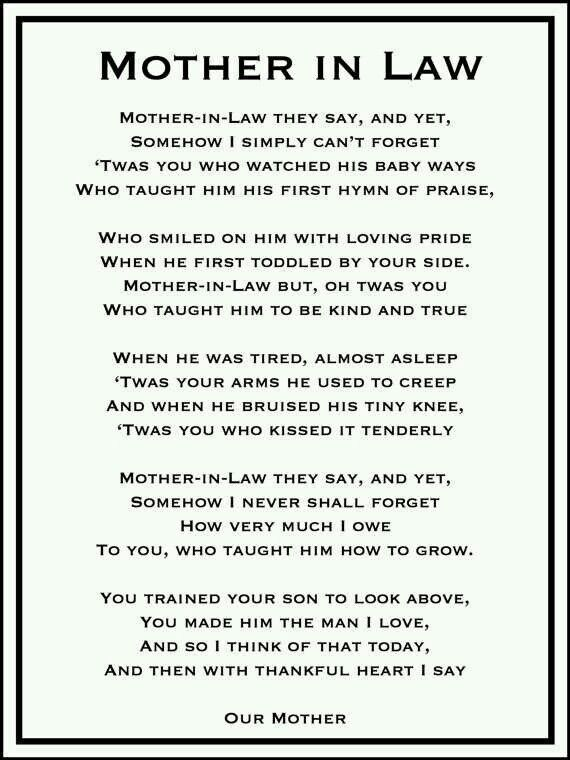 Tribute To Mother In Law Quotes