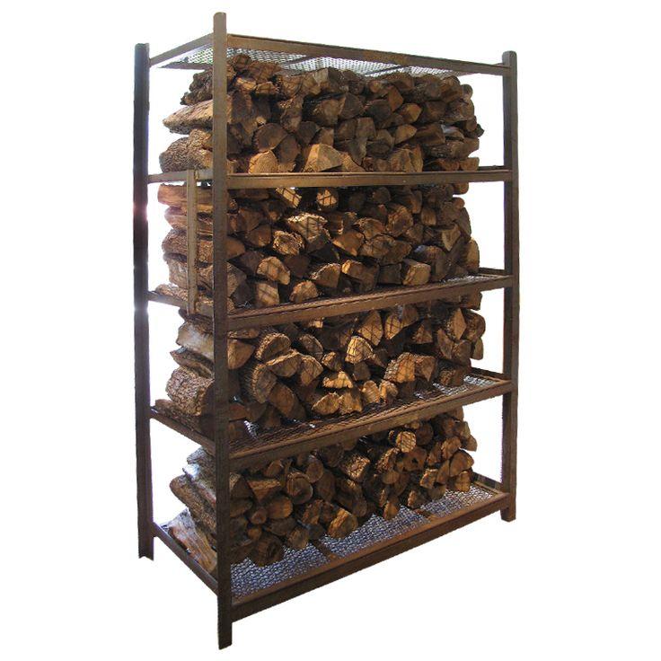 Massive Industrial Steel Firewood Rack