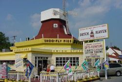 Dutch Haven in Ronks, PA is a great place to grab a slice of Shoofly Pie.