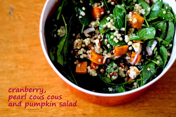 living, loving, laughing...: {Delicious} Cranberry, Pearl Cous Cous & Pumpkin Salad