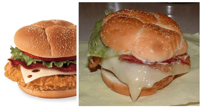 Wilted lettuce, dripping cheese…this is just a mess. Fast Food Advertising Versus Reality • Page 3 of 6 • BoredBug