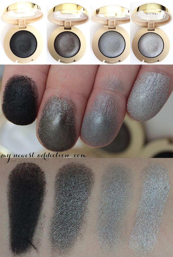 Milani Cosmetics Bella Gel polvo de sombras de ojos; Bella Negro Bella carbón de leña Bella Gray Bella plata
