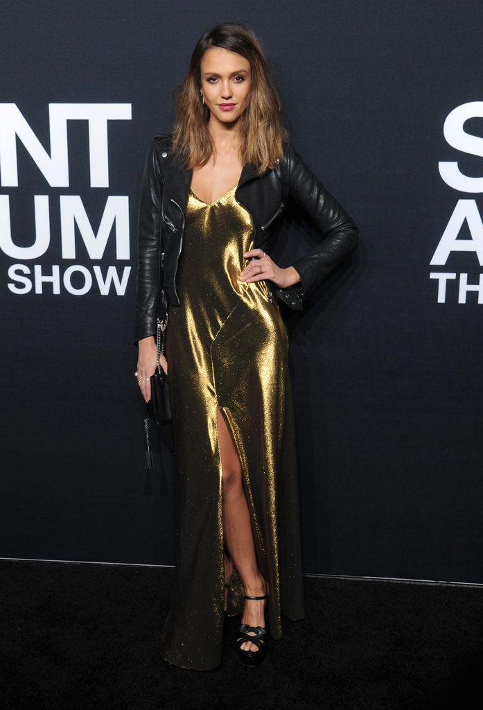 Jessica Alba at Saint Laurent Show Fall 2016 | POPSUGAR Latina