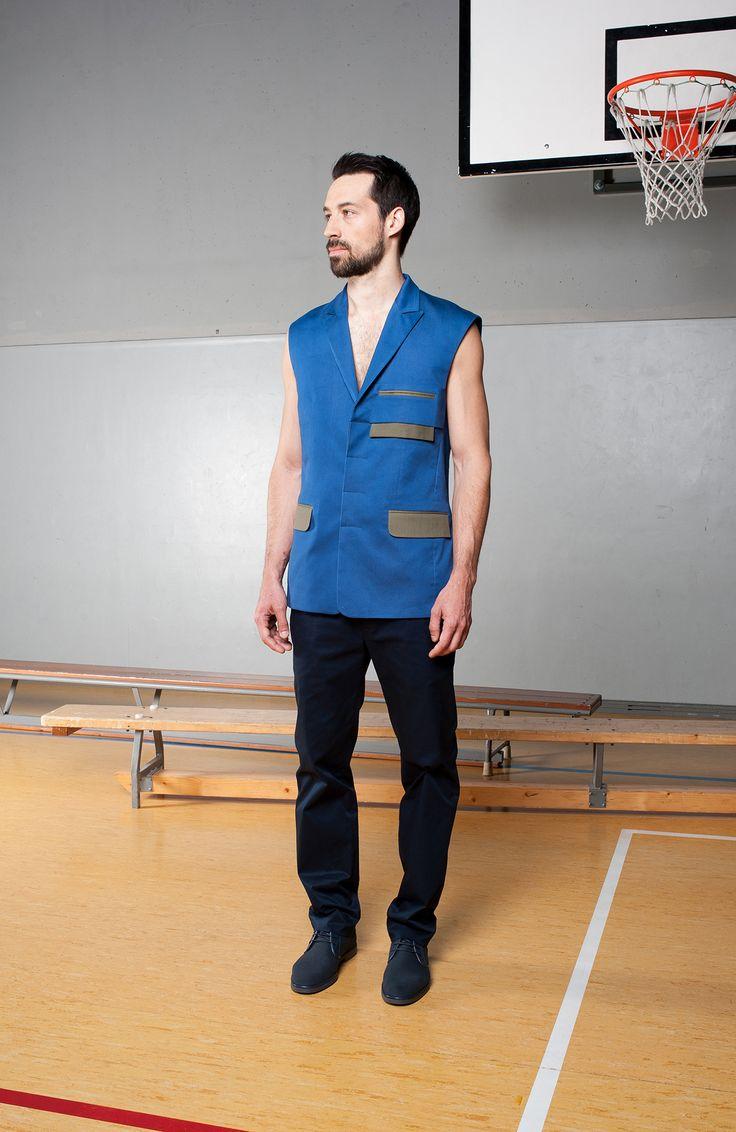 MEI KAWA | Hidden Button Line Vest