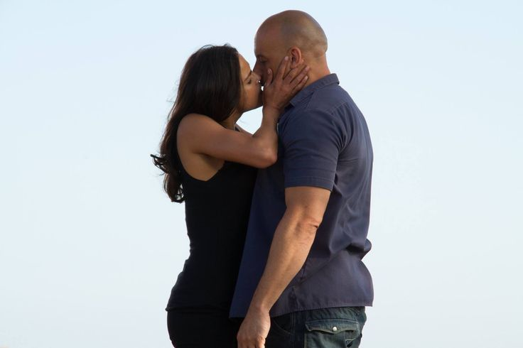 Michelle Rodriguez and Vin Diesel for furious 7 Fast and furious saga Letty and Dom Toretto