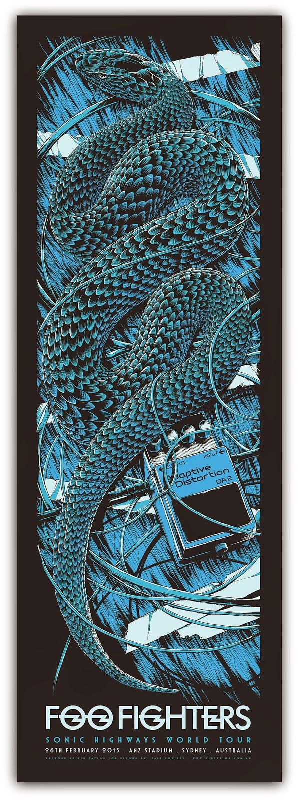Ken Taylor Foo Fighters Australia Tour Posters On Sale