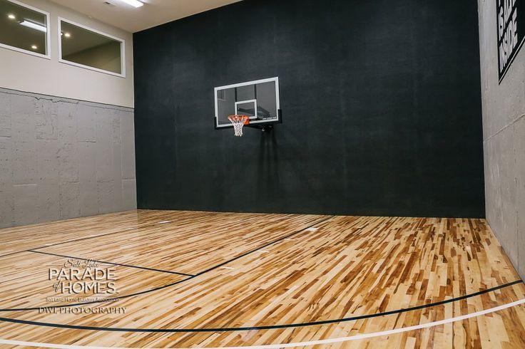 Indoor basketball court bangerter homes 24 2014 for Indoor basketball court installation