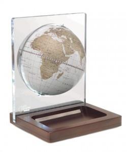 Glob de birou cu rama de plexiglas