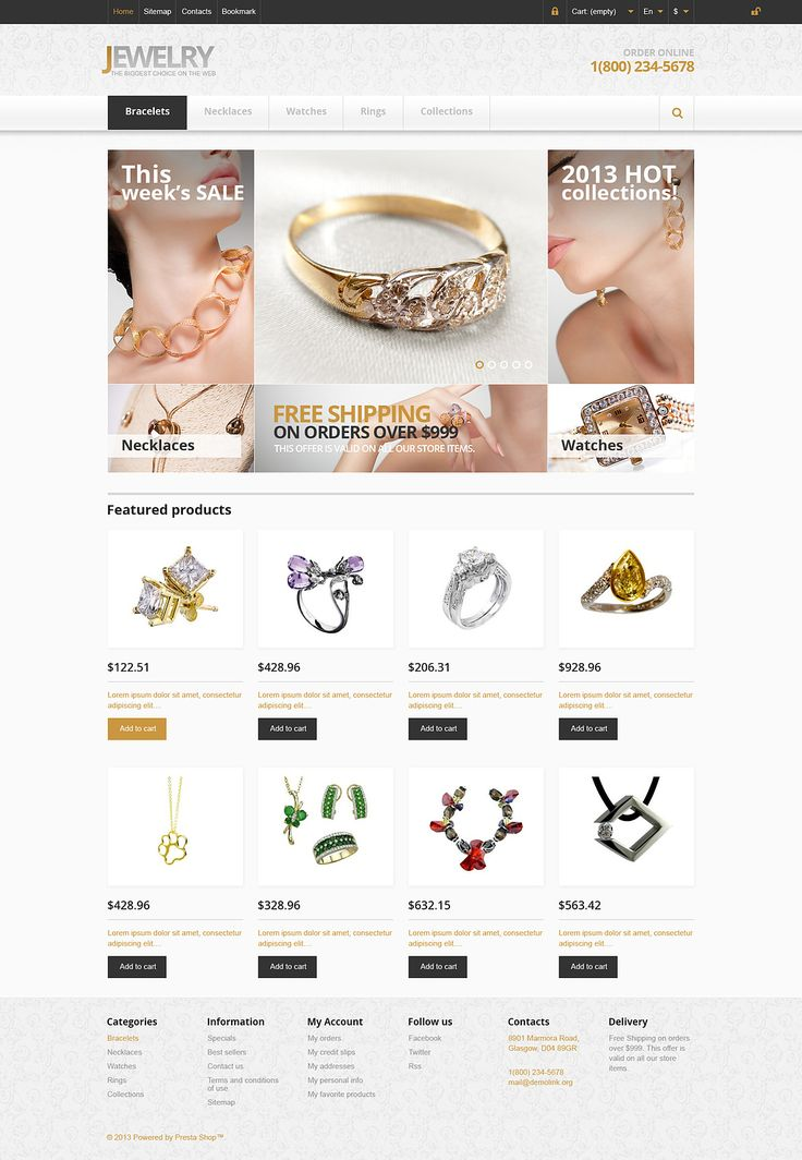 17+ Best Jewelry Store PrestaShop Themes - Responsive Jewelry Store