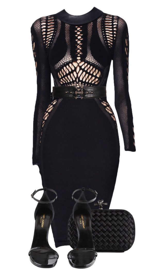 """""""Untitled #2985"""" by xirix ❤ liked on Polyvore featuring Julien Macdonald, Givenchy, Bottega Veneta and Yves Saint Laurent"""