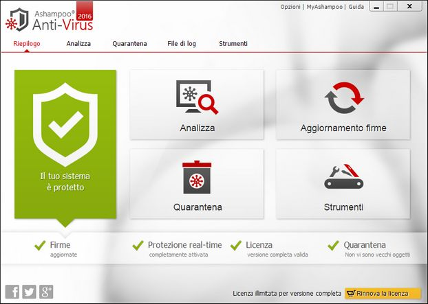 protezione in tempo reale con Ashampoo Anti-Virus | Sicurezza informatica