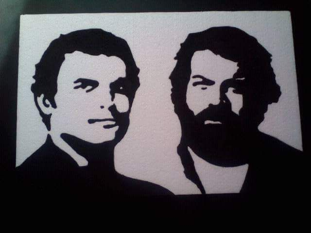 Bud Spencer  Terence Hill Stencil