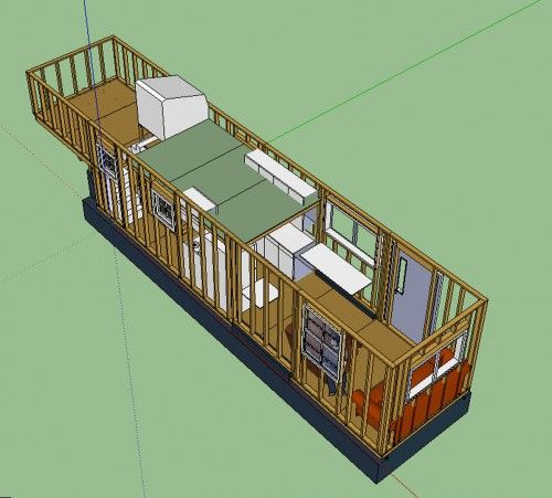 Beautiful Tiny House Layout Walls Up Loft Showing. The Largest Tiny House Iu0027ve Seen