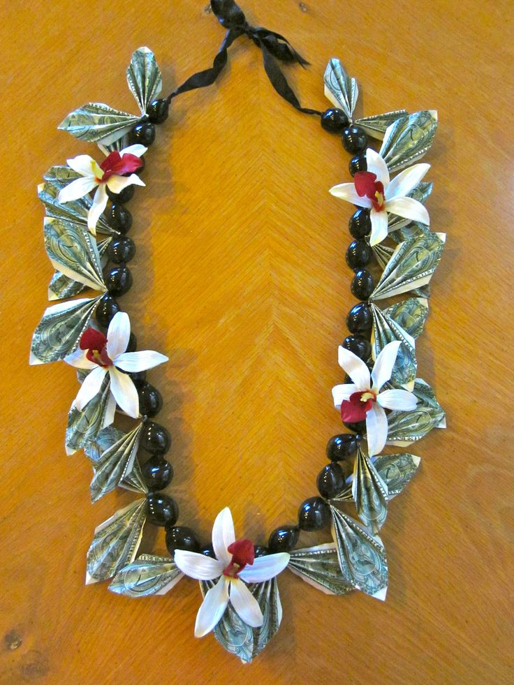 genuine kukui nut money lei. You can view more of my Money Leis on my Etsy Shop!