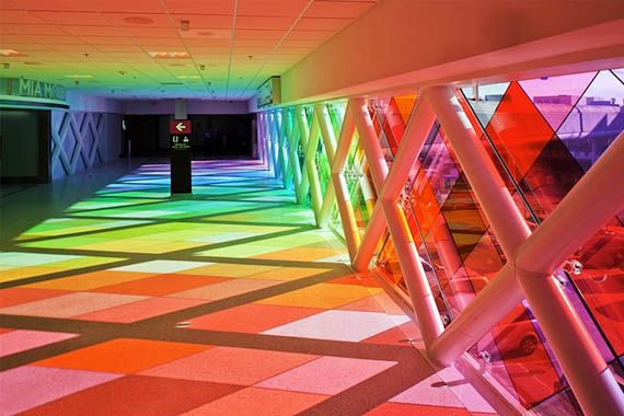 A Skittles Flavored Airport Walkway