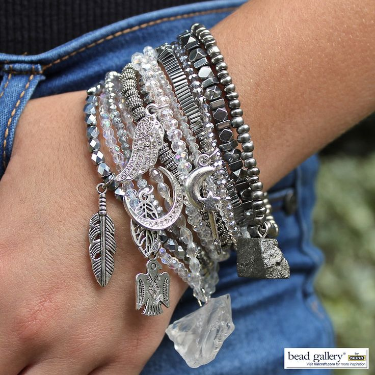 DIY Metro Metal bracelets by Denise Yezbak Moore featuring Bead Gallery beads from @MichaelsStores