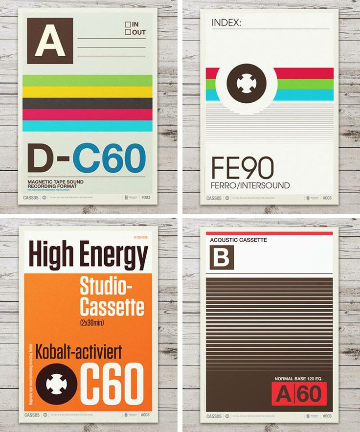 Retro Graphic Design Of Cassette
