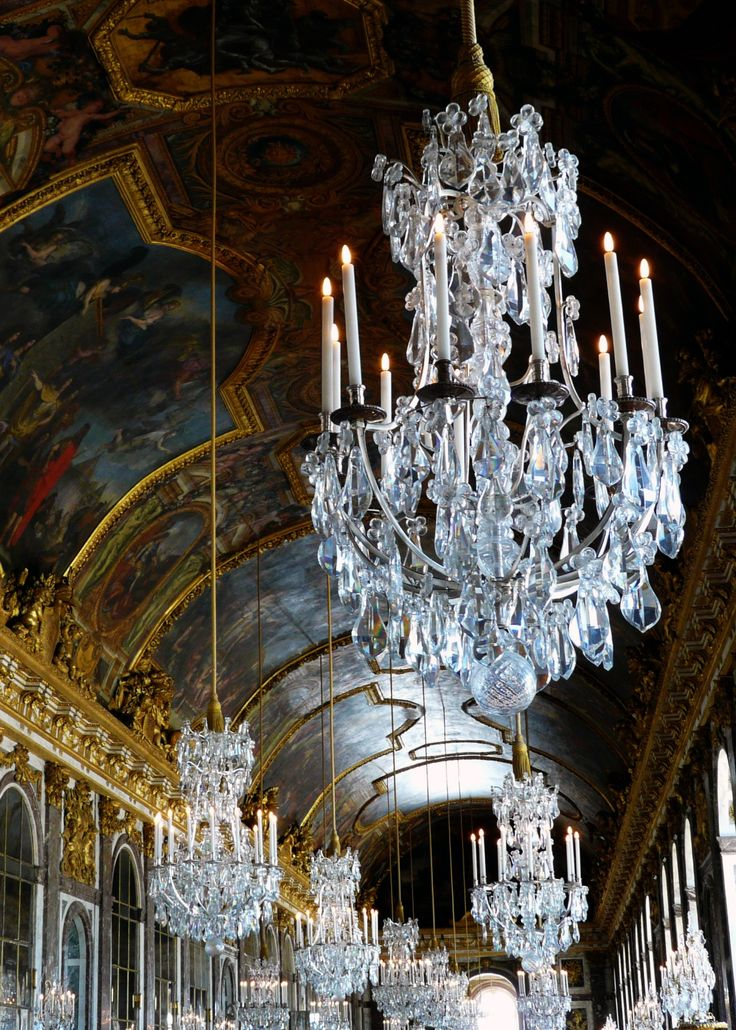 1040 best dazzling chandeliers images on pinterest chandeliers hall of mirrors versailles france mozeypictures Images
