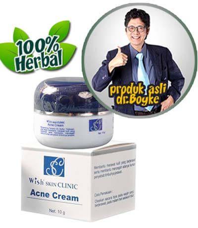 Acne Cream Wish Dr Boyke. Krim obat menghilangkan jerawat produk wish skin clinic dokter boyke.