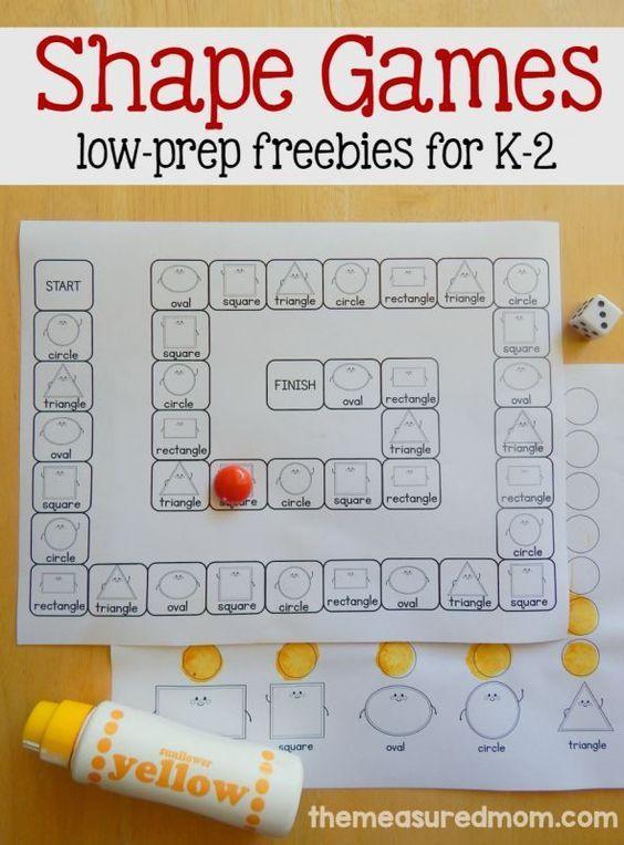 math worksheet : best 25 shape games ideas on pinterest  preschool shape  : Kindergarten Math Games Pinterest