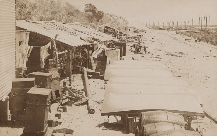 4323B/11: Richardson's original foreshore camp, Broome, 1912. https://encore.slwa.wa.gov.au/iii/encore/record/C__Rb4301334
