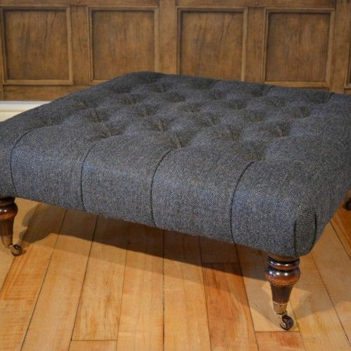 Tetrad Sofas and Footstool. Harris Tweed collection
