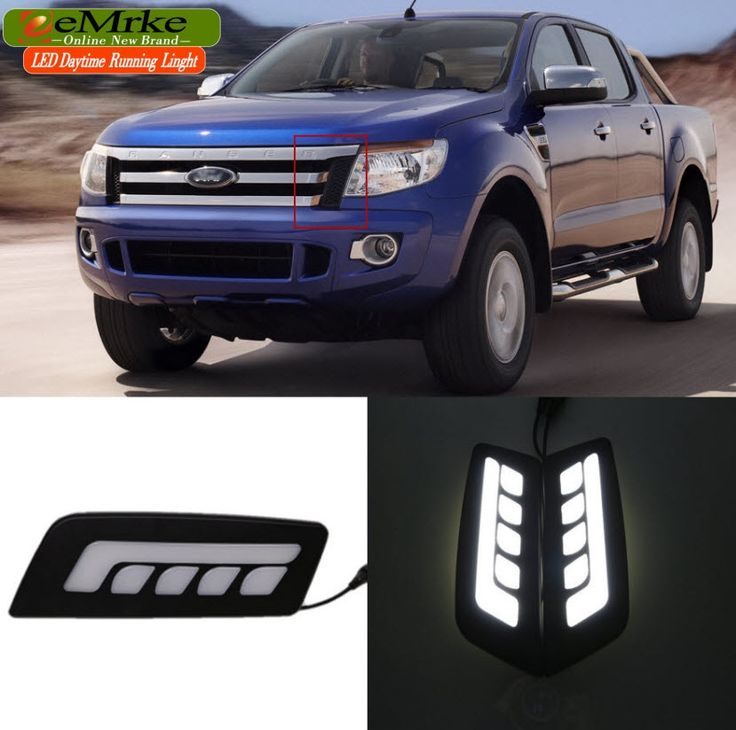 99.00$  Watch now - http://aliix0.worldwells.pw/go.php?t=32645657141 - eeMrke Car LED DRL For Ford Ranger 2012 2013 2014 2015 High Power Xenon White Fog Cover Daytiem Running Lights Kits 99.00$