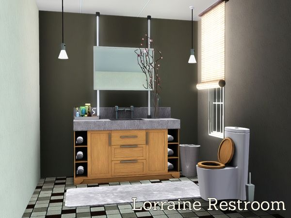 Lorraine Restroom By Angela   Sims 3 Downloads CC Caboodle