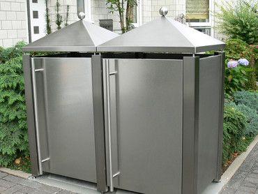 Fancy M lltonnenbox M lltonnenverkleidung M lltonnenhaus aus Bangkirai Edel Holz f r Haus Wohnen Garten mit Qualit t hochwertigem Design Konstruktion und