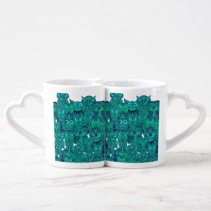 Cute All Over Owl Pattern Coffee Mug Set  $21.55  by ascension  - cyo customize personalize diy idea