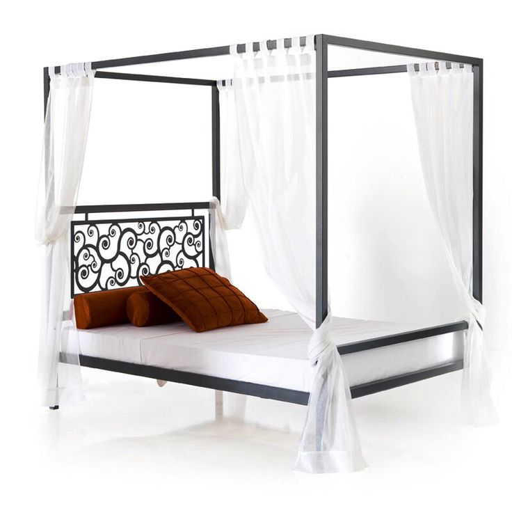 Baldakin seng i smijern, modell Mod. CARACOLES. Mulig i forskjellige størrelser og utførsler. FORESPØR