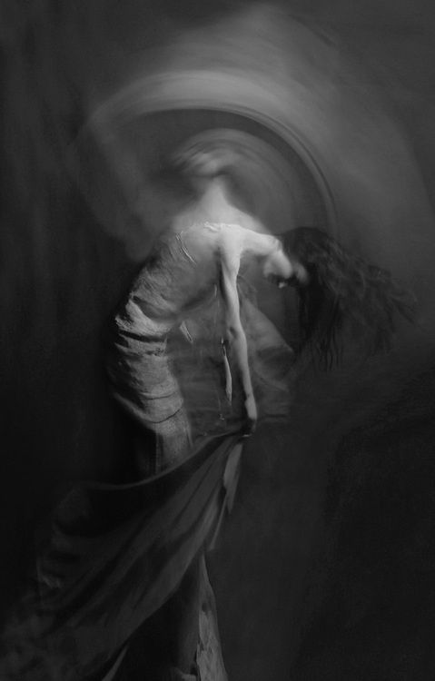 Amazing movement through photography to create a slightly figurative abstract photograph.