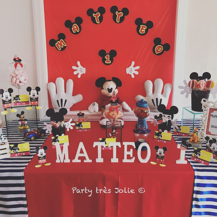 Mickey Mouse Party Candy Table