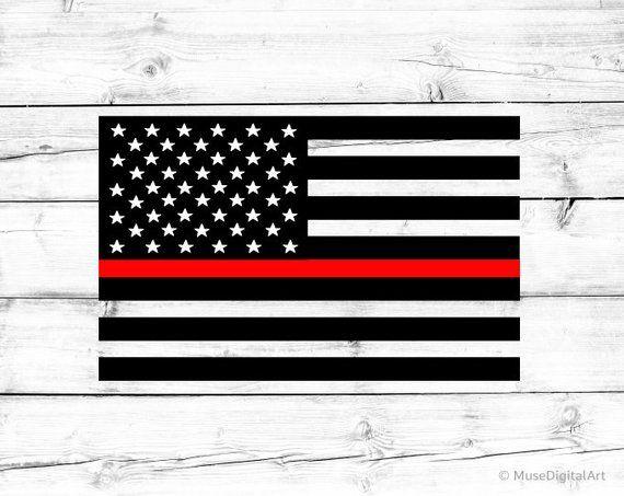 American Flag Svg Firefighter Svg Us Flag Svg Fire Department Etsy Silhouette Png Police Flag Svg