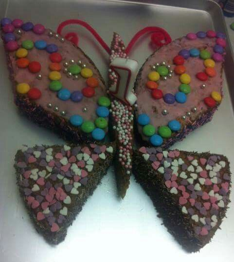 Schmetterlings Kuchen  Kuchen  Butterfly Party Birthday