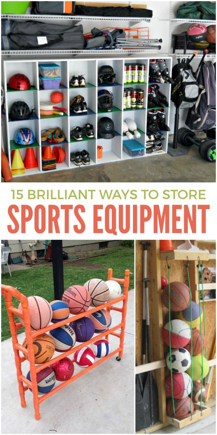Perhaps the most important out of all sports mom tips is advice on how to store all that equipment. I mean, it spills out everywhere, right? You trip over cleats in the mudroom, some gloves are in the garage while others are in the kids' rooms… so unorganized. But with these sports equipment storage ideas, you'll know just where everything is so you can focus on other things… like winning as a sports mom and trying to be on time for all those practices and games!