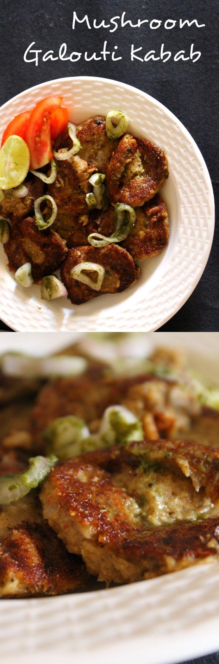 Mushroom Galouti Kabab | Vegetarian Party Starter Recipe