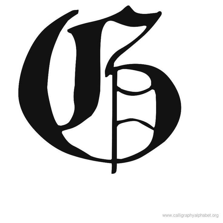 Blackletter majuscule g calligraphy inspirations