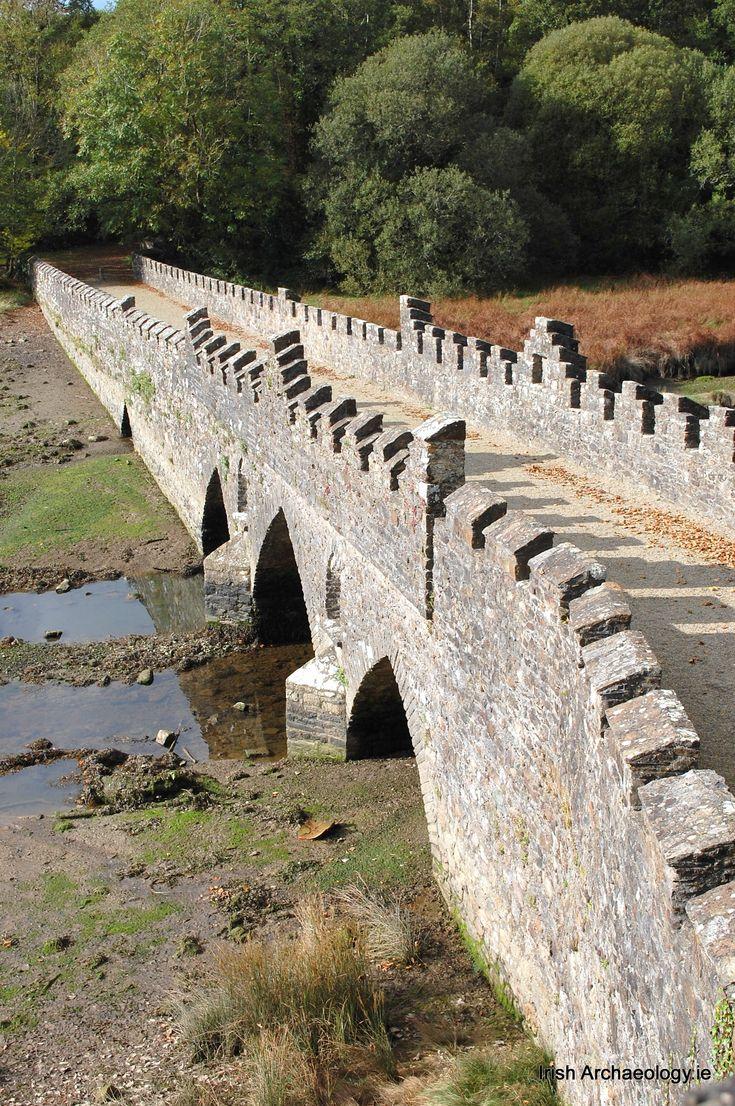 Medieval bridge, Tintern, Wexford, Ireland