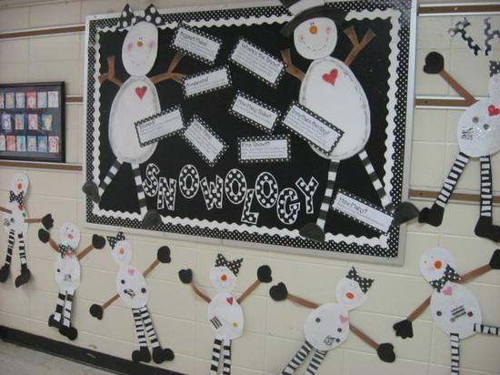 Snow-ology winter bulletin board idea. Fun way to teach students about snow! http://www.mpmschoolsupplies.com/ideas/1241/snow-ology-winter-bulletin-board-idea/