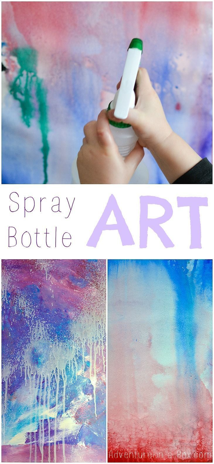 spray bottle art for kids a splash of colours and fun this process. Black Bedroom Furniture Sets. Home Design Ideas
