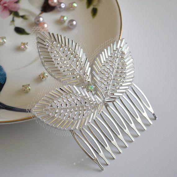 Leaf Bridal Comb, Wedding Hair Comb, Bridal Hair Comb, Wedding Hairpiece, Crystal Hair Comb, Wedding Hair Accessories, Crystal Hairpiece