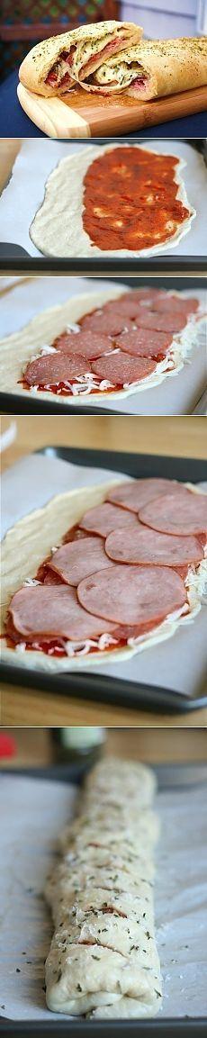 Как приготовить стромболи (пицца-рулет) - рецепт, ингридиенты и фотографии