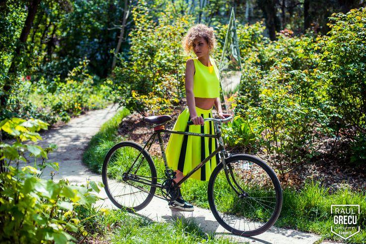 www.facebook.com/hihirifashion  Beautiful neon green outfit from Hihiri! #hihiri #fashion #garden #green #neon fashion #scubafashion #neoprene #girl #young #beautiful #style #outfit #spring #summer #skirt #top #shopping #greenskirt #greentop #streetstyle #clothing #edgy