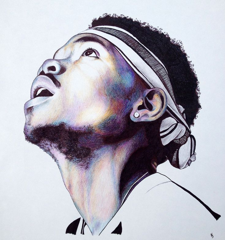 chance the rapper ballpoint pen by godisloveisart