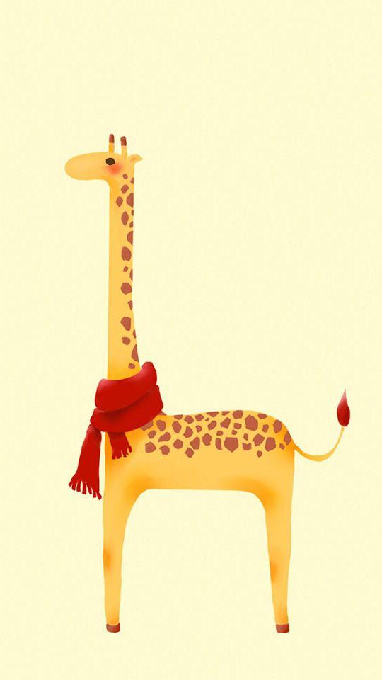 Cute Giraffe IPhone Wallpaper